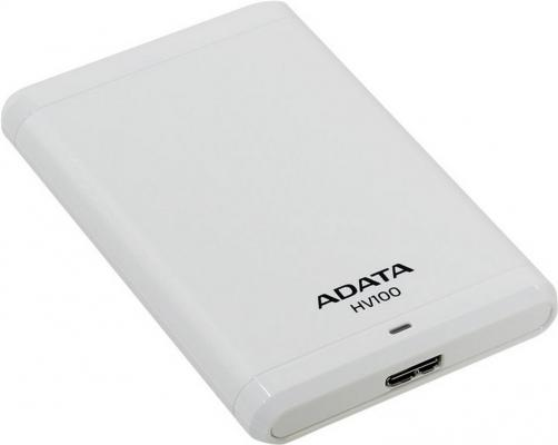 Внешний жесткий диск 2.5 USB3.0 1Tb A-Data HV100 AHV100-1TU3-CWH белый hdd a data hv100 1tb white