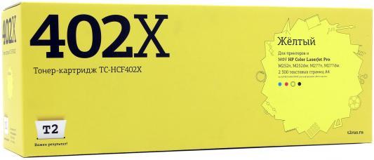 Картридж T2 CF402X для HP CLJ Pro M252n/M252dw/M277n/M277dw желтый 2300стр TC-HCF402X картридж t2 для hp tc h85a laserjet p1102 1102w pro m1132 m1212nf m1214nfh canon i sensys lbp6000 cartrige 725 1600 стр с чипом