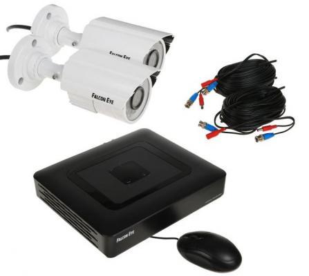 Комплект видеонаблюдения Falcon Eye FE-104AHD KIT Light 2 уличные камеры 4-х канальный видеорегистратор установочный комплект