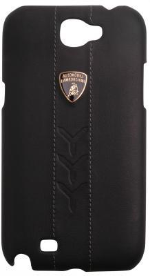 Кожаный клип-кейс для Samsung Galaxy Note II Lamborghini Performate-D1 (черный) клип кейс lg cch 210 для l5 ii черный