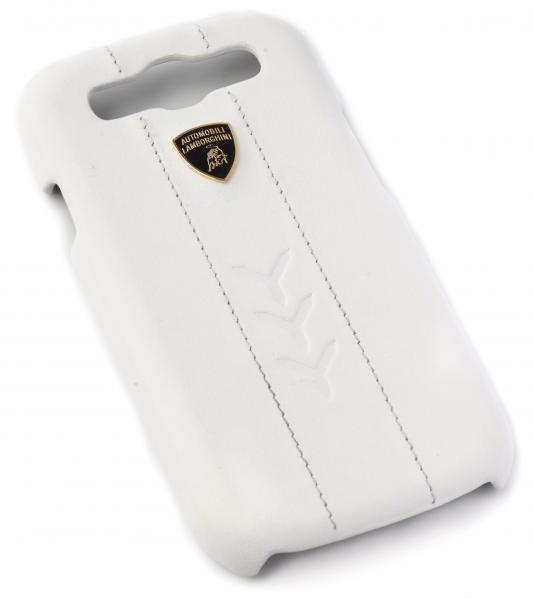 Кожаный клип-кейс для Samsung Galaxy S3 Lamborghini Performate-D1 (белый)  Lamborghini Performate-D1