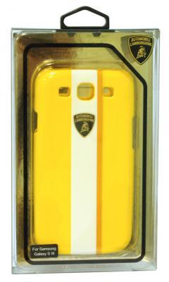 Пластиковый чехол Lamborghini Gallardo-D1 для Samsung Galaxy S3 (желтый)