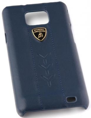 Кожаный клип-кейс для Samsung Galaxy S2 Performate-D1 Lamborghini (синий) цена и фото