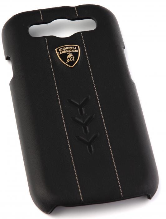 Кожаный клип-кейс для Samsung Galaxy S3 Lamborghini Performate-D1 (черный)