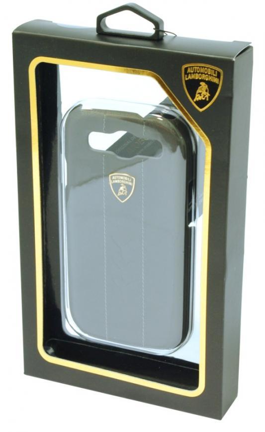 Кожаный клип-кейс для Samsung Galaxy S3 Lamborghini  Performate-D1 (серый)