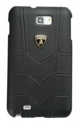 цена на Кожаный клип-кейс для Samsung Galaxy Note Lamborghini Aventador-D1 (черный)