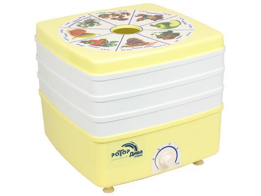 Сушилка для овощей и фруктов Ротор СШ-010-01 белый бежевый