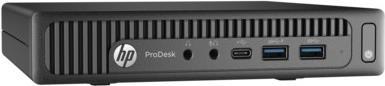 Тонкий клиент HP ProDesk 600 G2 Mini i3-6100T 3.2GHz 4Gb 500Gb Win7Pro Win10Pro клавиатура мышь черный T4J49EA