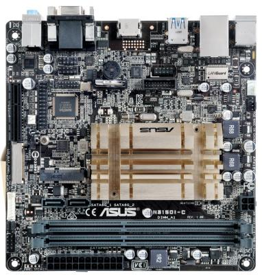 Материнская плата ASUS N3150I-C с процессором Intel 2xDDR3 1xPCI-E 4x 2 mini-ITX Retail