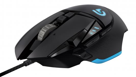 Мышь проводная Logitech G502 Laser Gaming Mouse Proteus Spectrum чёрный USB 910-004617 qisan x5 6 button 800 1600 2000dpi usb wired gaming mouse w 7 led backlight black
