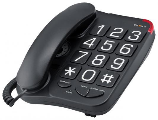 Телефон проводной Texet TX-201 черный