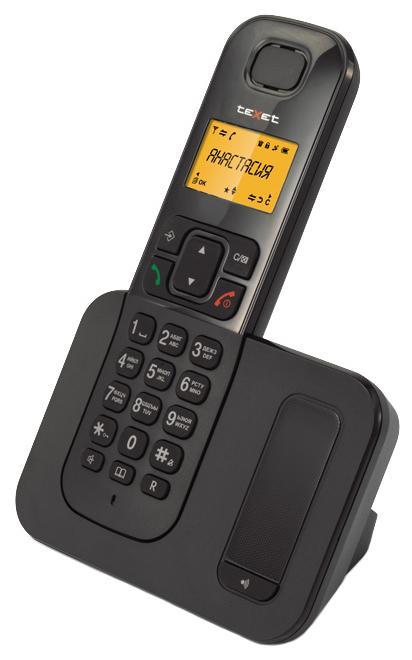 Радиотелефон DECT Texet TX-D6605A черный телефон проводной texet tx 201 белый