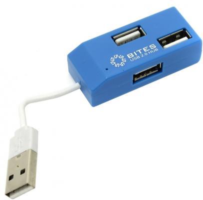Концентратор USB 2.0 5bites HB24-201BL 4 x USB 2.0 синий