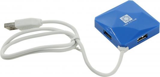 Концентратор USB 2.0 5bites HB24-202BL 4 x USB 2.0 синий