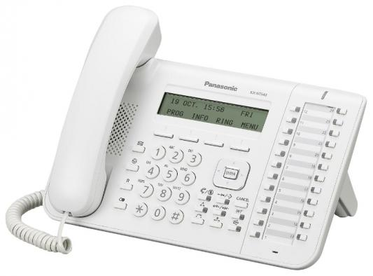 Телефон IP Panasonic KX-NT543RU белый телефон ip panasonic kx nt546rub черный