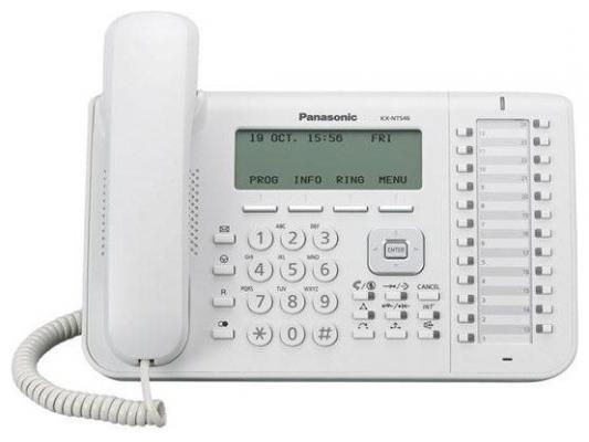 Телефон IP Panasonic KX-NT546RU белый телефон ip panasonic kx nt556rub черный