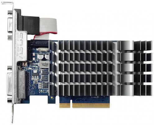 Видеокарта 2048Mb ASUS GeForce GT 710 PCI-E DVI HDMI CRT HDCP GT 710-2-SL Retail