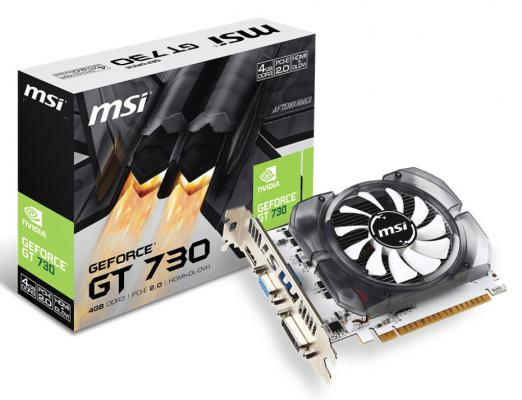 Видеокарта 4096Mb MSI GeForce GT730 PCI-E GDDR3 128bit DVI HDMI CRT HDCP N730-4GD3V2 Retail