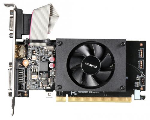 Видеокарта GigaByte GeForce GT 710 GV-N710D3-2GL PCI-E 2048Mb GDDR3 64 Bit Retail (GV-N710D3-2GL) видеокарта gigabyte geforce gt 730 gv n730d5 2gl pci e 2048mb 64 bit retail