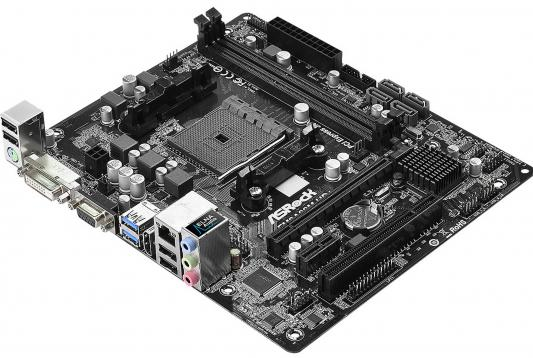 Мат. плата для ПК ASRock FM2A88M-HD+ R3.0 Socket FM2+ AMD A88X 2xDDR3 1xPCI-E 16x 1xPCI 1xPCI-E 1x 4xSATAIII mATX Retail
