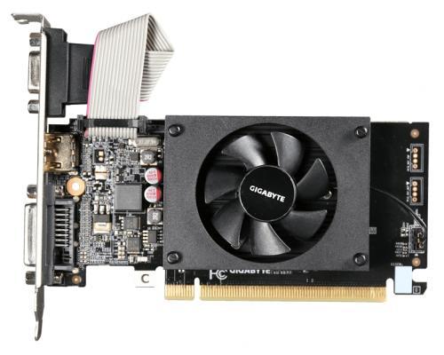 Видеокарта 1024Mb Gigabyte GT710 PCI-E GDDR3 64bit HDMI DVI CRT HDCP GV-N710D3-1GL Retail