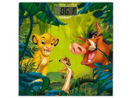 Весы напольные Scarlett SC-BSD33E893 рисунок зелёный