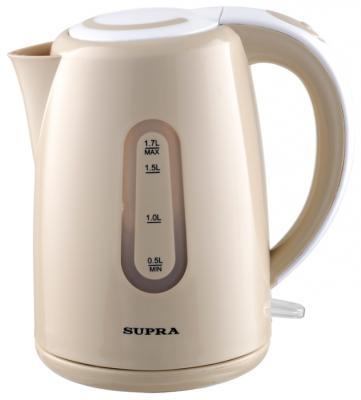 Чайник Supra KES-1720 2200 Вт бежевый 1.7 л пластик чайник supra kes 1721 2200 вт белый 1 7 л пластик