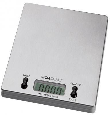 Весы кухонные Clatronic KW 3367 серебристый