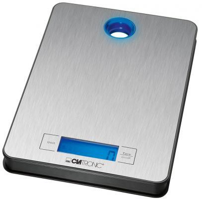 Весы кухонные Clatronic KW 3412 серебристый кухонные весы clatronic kw 3626 glas schwarz