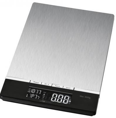 Весы кухонные Clatronic KW 3416 серебристый чёрный