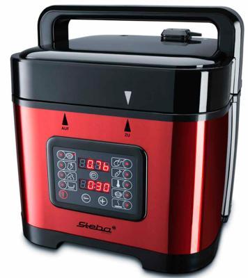 Мультиварка Steba DD 2 BASIC серебристый черный красный 900 Вт 5 л мультиварка steba dd 2 xl eco черный серебристый 1000 вт 6 л