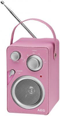 Радиоприемник AEG MR 4144 pink Aux-In вентилятор напольный aeg vl 5569 s lb 80 вт