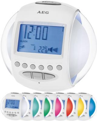 Часы с радиоприёмником AEG MRC 4117 whites light and sound