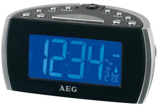 Часы с радиоприёмником AEG MRC 4119 P black чёрный redken cerafill retaliate shampoo шампунь для сильно истонченных волос 290 мл