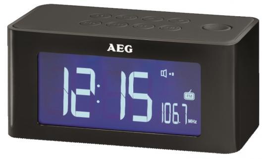 Часы с радиоприёмником AEG MRC 4140 i black чёрный штроборез aeg mfe 1500