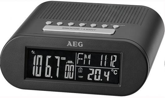 Часы с радиоприёмником AEG MRC 4145 F black чёрный цена