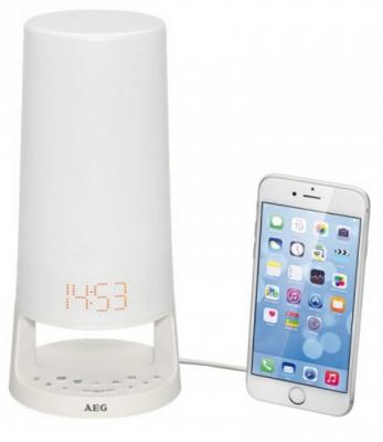Радиочасы AEG MRC 4147 L white USB aeg l 76260 tl