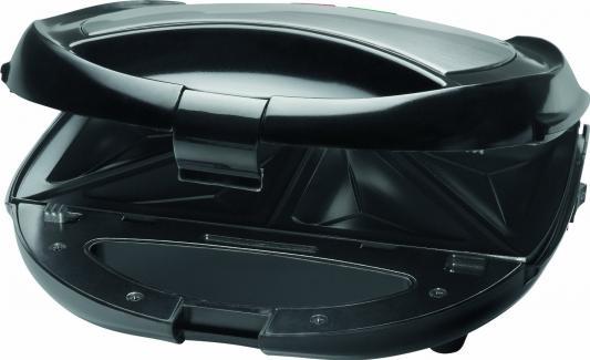 Сэндвичница Clatronic ST/WA 3490 серебристый чёрный