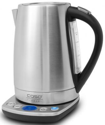 Чайник CASO WK 2200 2200 Вт серебристый 1.7 л нержавеющая сталь чайник midea mk m317c2a rd 2200 вт 1 7 л нержавеющая сталь красный