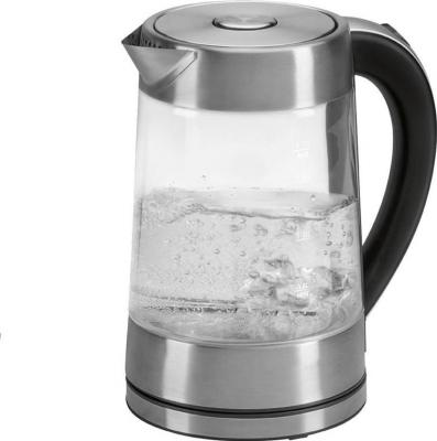 Чайник Clatronic WK 3501 G 2200 Вт прозрачный 1.7 л металл/стекло чайник clatronic wk 3501