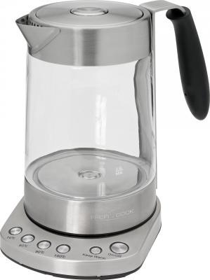 Чайник Profi Cook PC-WKS 1020 G 3000 Вт прозрачный 1.7 л металл/стекло чайник profi cook pc wks 1083 2200 вт 1 5 л металл серебристый
