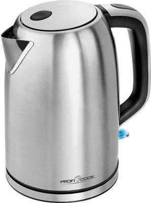 Чайник Profi Cook PC-WKS 1083 2200 Вт 1.5 л металл серебристый чайник clatronic wks 3576 2200 вт чёрный серебристый 1 5 л металл пластик