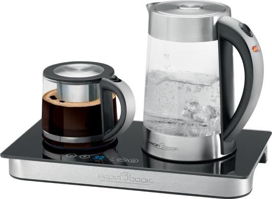Чайный набор Profi Cook PC-TKS 1056 2200 Вт чёрный 1.7 л металл/стекло чайник profi cook pc tks 1056