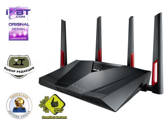 Беспроводная точка доступа ASUS RT-AC88U 802.11ac 3167Mbps 2.4/5ГГц 8xLAN arteast am 437 фигурка лягушка жаба латунь янтарь