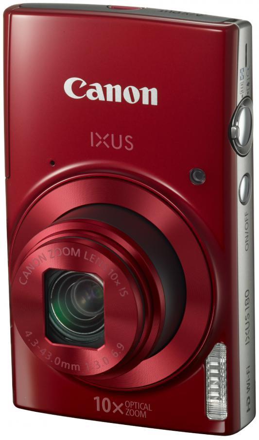 Фотоаппарат Canon Ixus 180 20Mp 10xZoom красный 1088C001