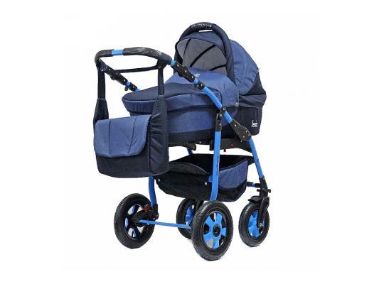 Коляска 2-в-1 Teddy BartPlast Fenix LEN (01/темно-синий) детская коляска 2 в 1 junama diamond jd 01 темно синий белый короб