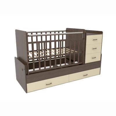Кроватка-трансформер СКВ-5 4 ящика (венге-бежевый/534038-9)