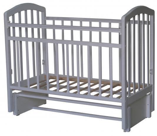Кроватка с маятником Антел Алита-5 (белый)