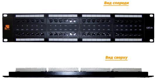 Патч-панель Lanmaster LAN-PPL48U5E 48 портов UTP кат.5E 2U патч панель itk pp48 2uc5eu d05 48 портов кат 5e utp