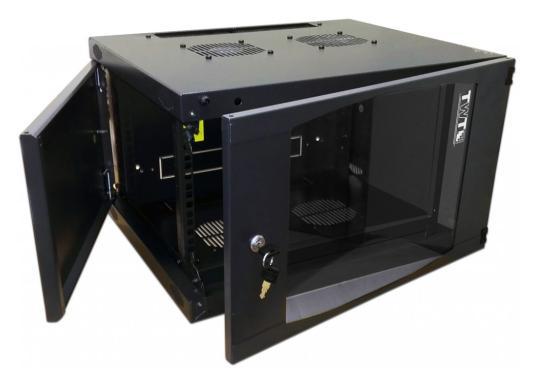 Шкаф настенный 6U Lanmaster TWT-CBWNG-6U-6X4-BK 550x450mm черный 60кг